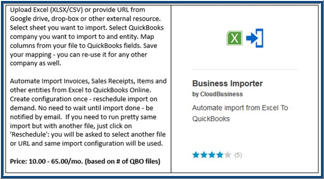 Data Utility Apps For QuickBooks Online Insightfulaccountantcom - Import invoices from excel to quickbooks for service business