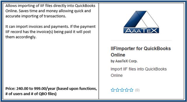 QBO IIF Importer