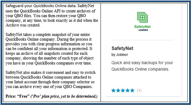SafetyNet QBO