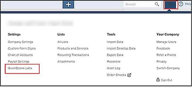 QBO Labs Nav Bar Option Access