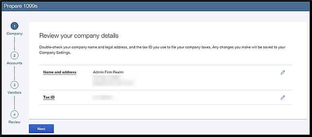 QBO 1099 Company Info