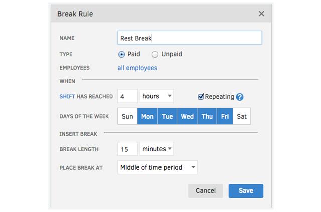 TSheets Automatic Break