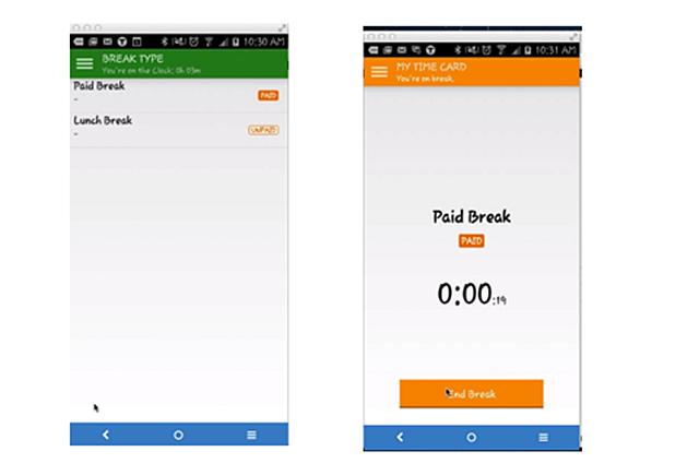 TSheets Mobile App Breaks