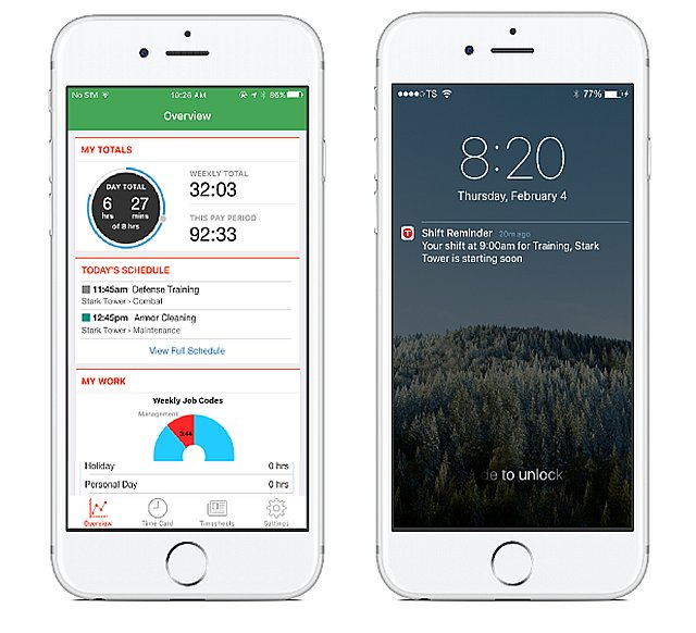 TSheets Mobile App with Scheduling