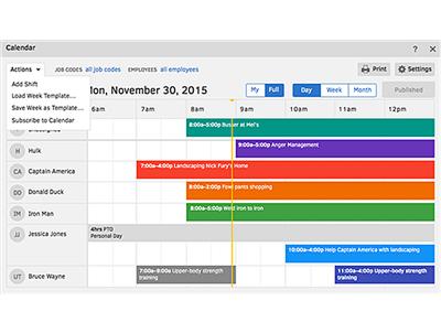 TSheets Scheduling