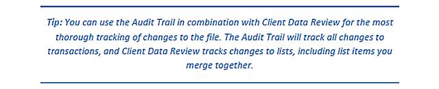 Adv Tip -  Audit Trial Tip