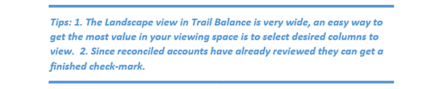 QBOA Trial Balance Working Trial Balance Tips