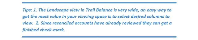 QBOA Trial Balance Working Trial Balance Tips