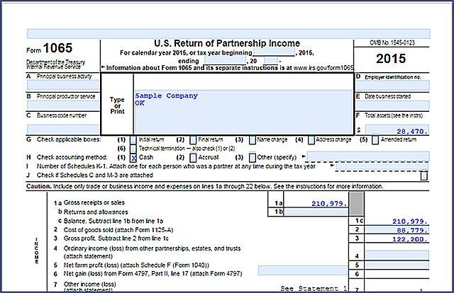 QBOA Trial Balance - tax return