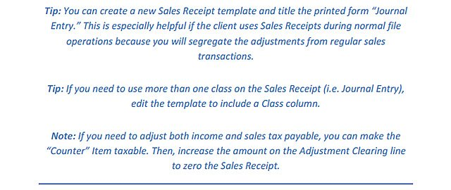 how to make adjusting entries in quickbooks online