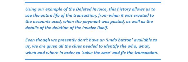 QBOA-Tools Audit History Clues