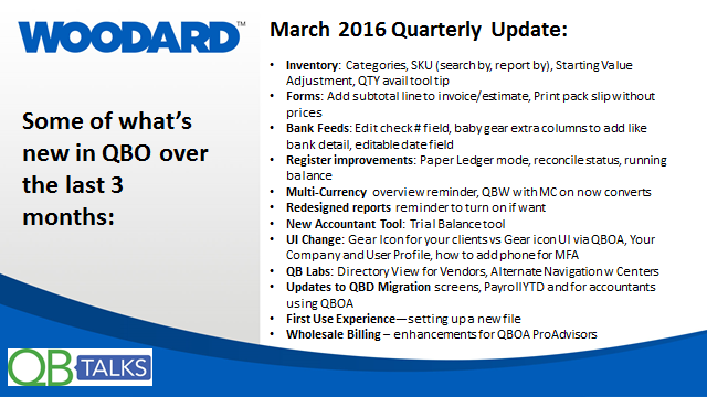 March 2016 QB Talks Webinar