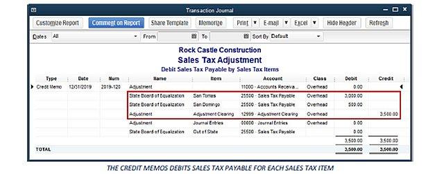 Adjusting Sales Tax - Figure 3