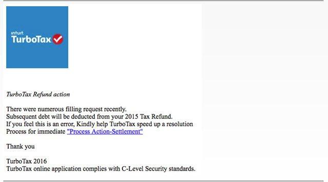 TurboTax Fake Email Alert
