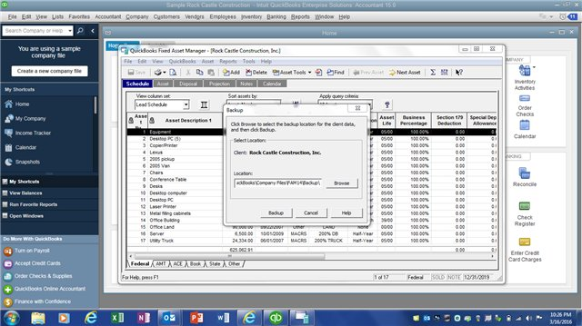 FAM Backup Process