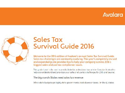 2016 Sales Tax Survival Guide