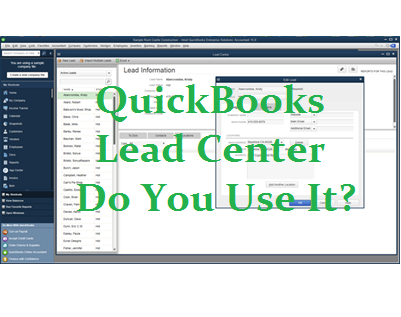 Lead Center - Do You Use It