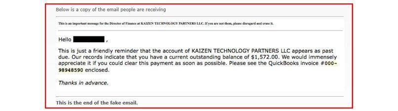 Fake Email Invoice  Fake Invoice