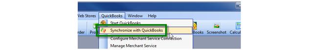 Sync with QuickBooks