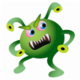 virus cartoon character