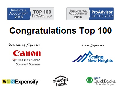 Congratulations 2016 Top 100 ProAdvisors