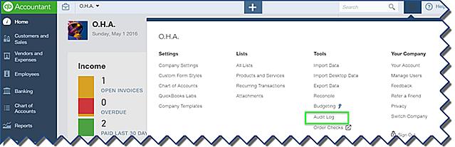 Audit Log access