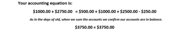 Scenario accounting equation