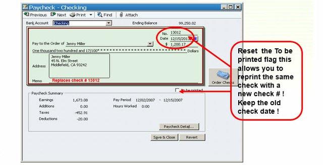 Replace Payroll Check Step 2B