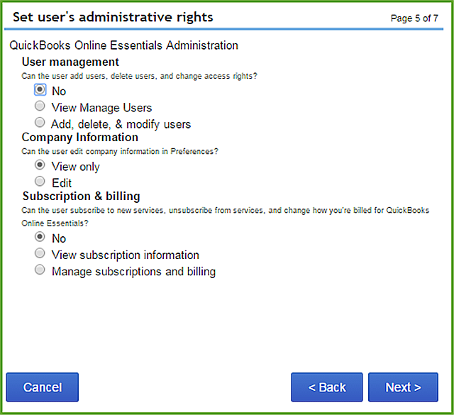 User Permissions In QuickBooks Online