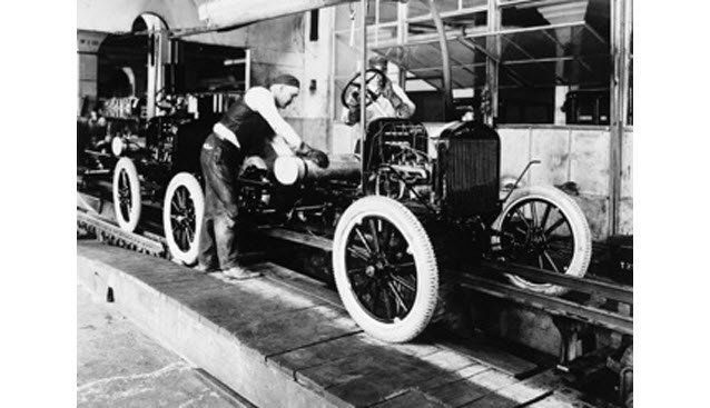 1908 Ford Assembly Line