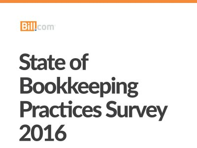 State of Bookkeeping Practices Survey 2016