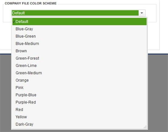 Slide 1 - QuickBooks 2014 Color Scheme Options