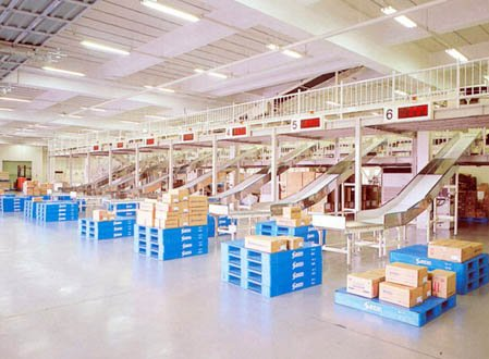 warehouse parcel sorting system