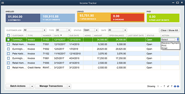 Slide 2 - New QuickBooks 2014 Income Tracker Actions