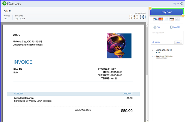 Share Invoice Link - fig 2