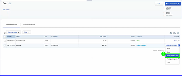 Share Invoice Link - fig 4