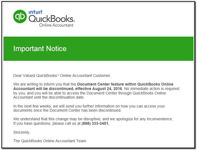 QBOA Document Notice
