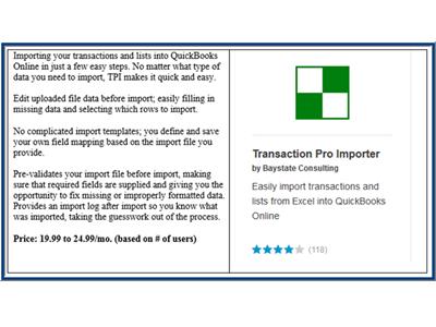 Transaction Pro QBO App