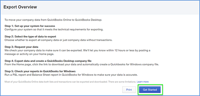 Converting QuickBooks Online to QuickBooks Desktop