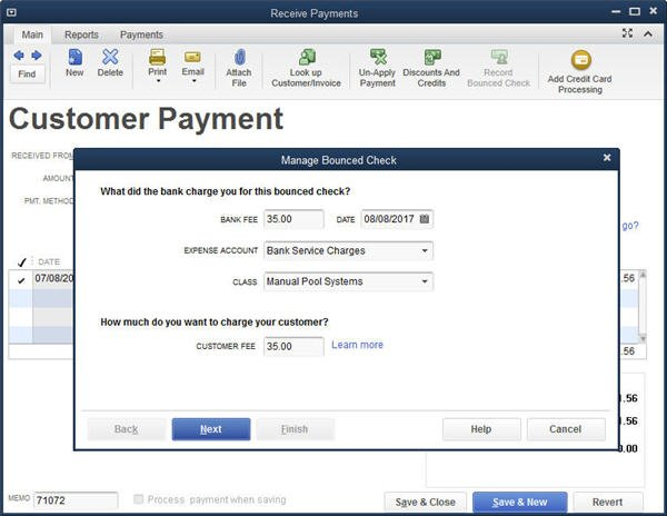 Slide 2 - QuickBooks 2014 Bounced Check Feature