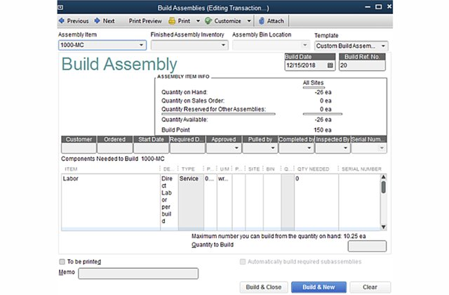 QB Build Assembly