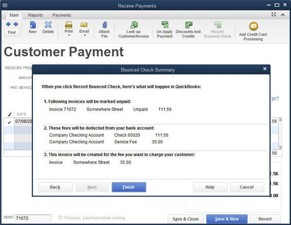 Slide 3 - QuickBooks 2014 Bounced Check Feature