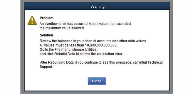 QB Overflow Error Warning
