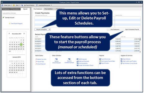 Slide 1 QuickBooks 2014 Payroll Center Payroll Tab