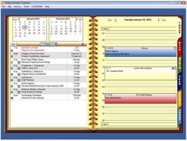 Amicus Calendar