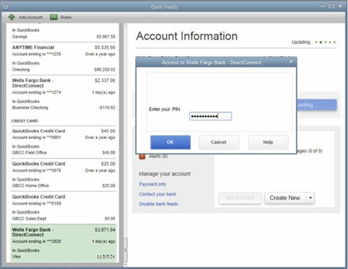 QuickBooks 2014 - Bank Feeds - Downloading Your Transactions