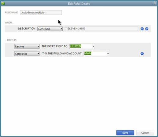 QuickBooks 2014 - Bank Feeds - New Rules