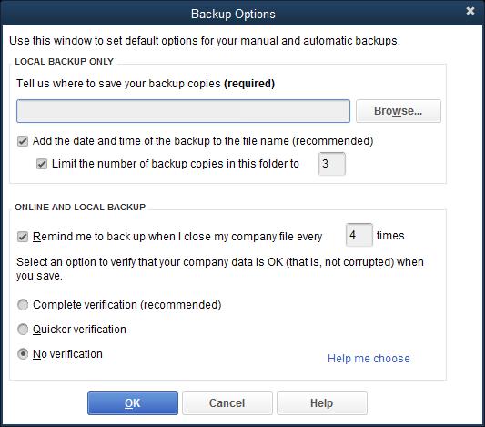 QBDT Back-up Options