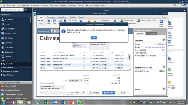 Estimates to Invoices figure 1