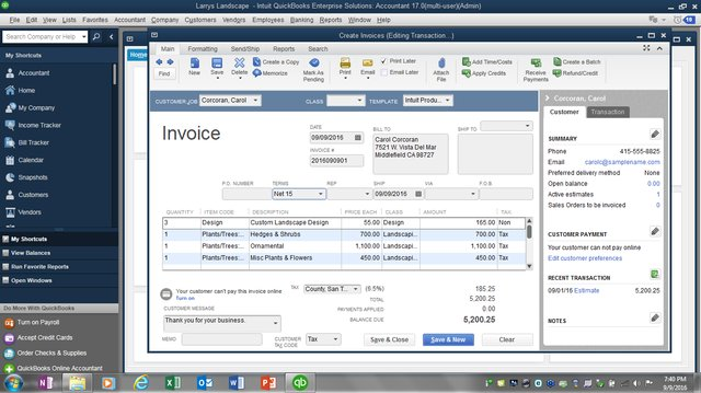 Invoice to Estimate figure 2